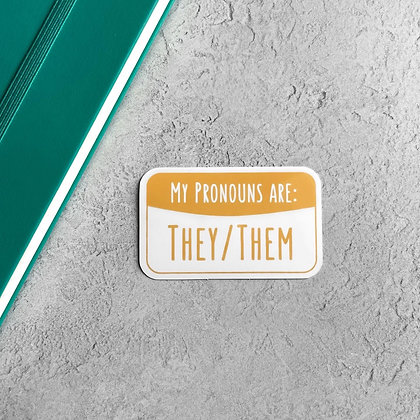 They/Them Pronoun Sticker