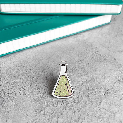 Conical Flask Enamel Pin Badge