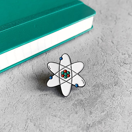 Rutherford Atomic Model Enamel Pin Badge