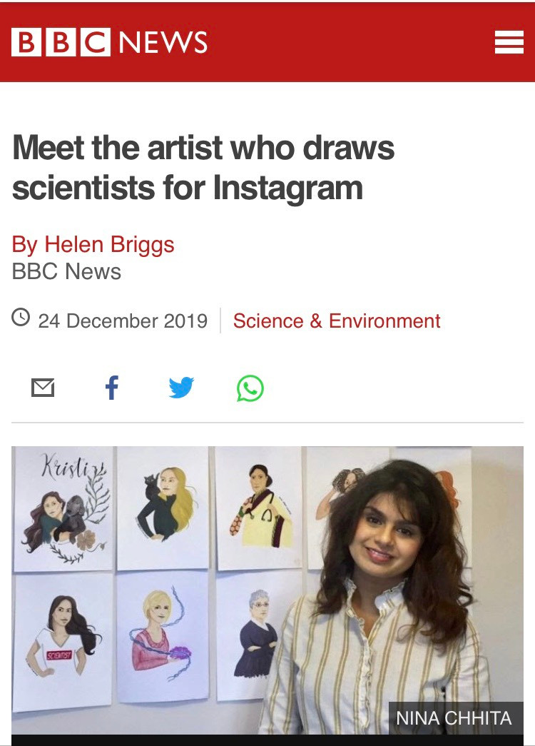 Clip from a BBC article featuring Nina.
