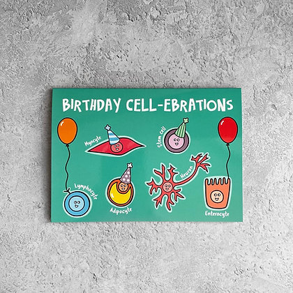Birthday Cell-brations Card