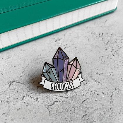Geologist Enamel Pin Badge
