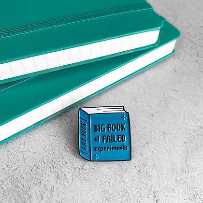 Lab Book Enamel Pin Badge
