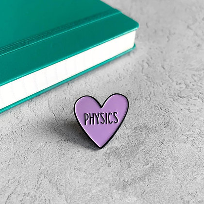 Physics Heart Enamel Pin Badge