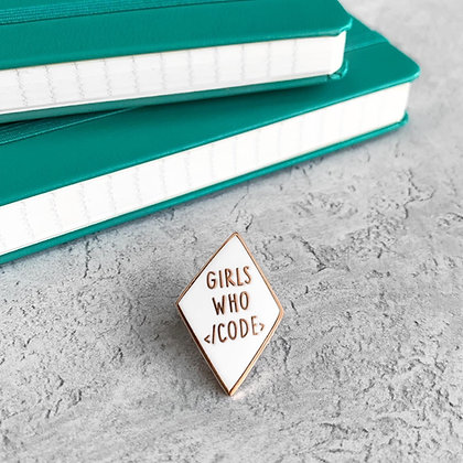 Girls Who Code Enamel Pin Badge