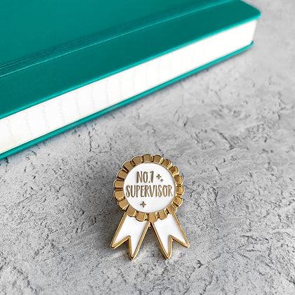 Best Supervisor Award / Gift Enamel Pin Badge
