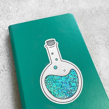 Round Bottom Lab Flask Sticker