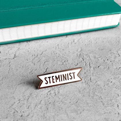 STEMINIST Enamel Pin Badge