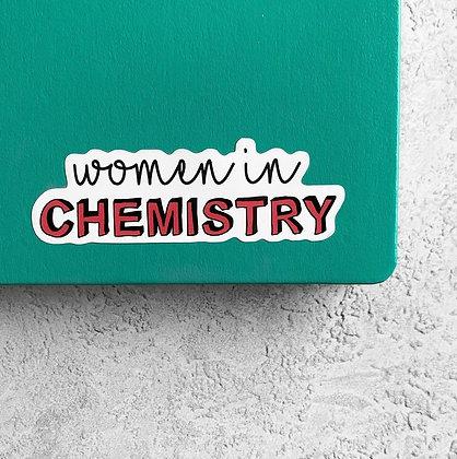 Women in Chemistry Sticker