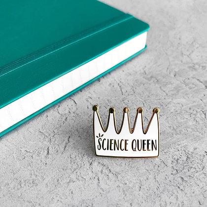 Science Queen Enamel Pin Badge