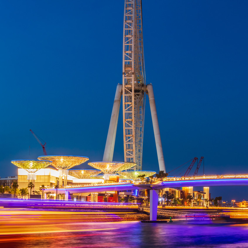 Ain Dubai during Blue Hour