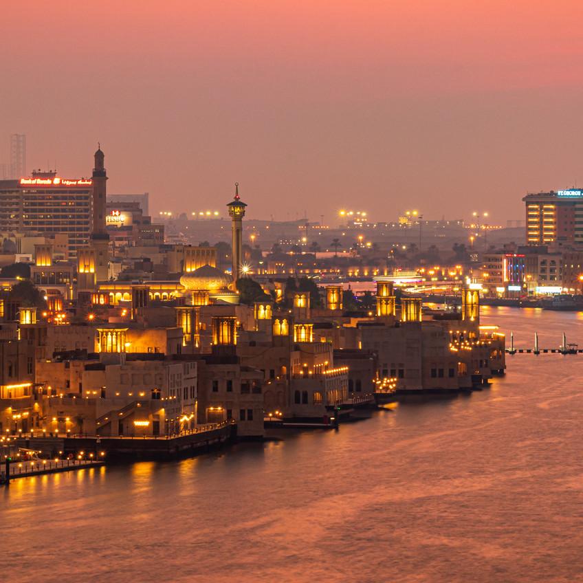 Old Dubai after Sunset