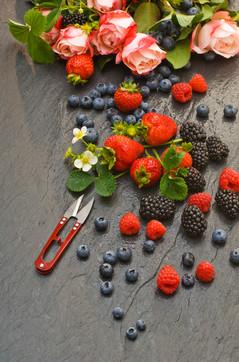 Beeren Früchte, Food Fotografie