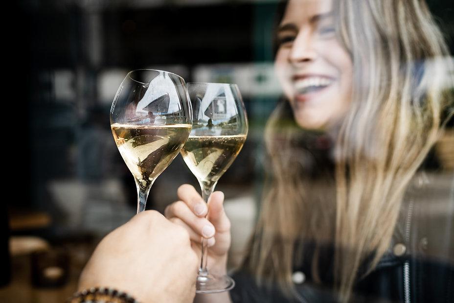 anstoßen Champagner en vie d'éphémère