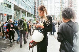 LONDON FASHION WEEK STREET STYLE, ON 35MM FILM