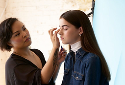 On set for Couturesque magazine by Marissa Joan Ho, 2015