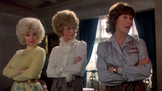 9 to 5 (1980) starring Dolly Parton, Jane Fonda, Lily Tomlin