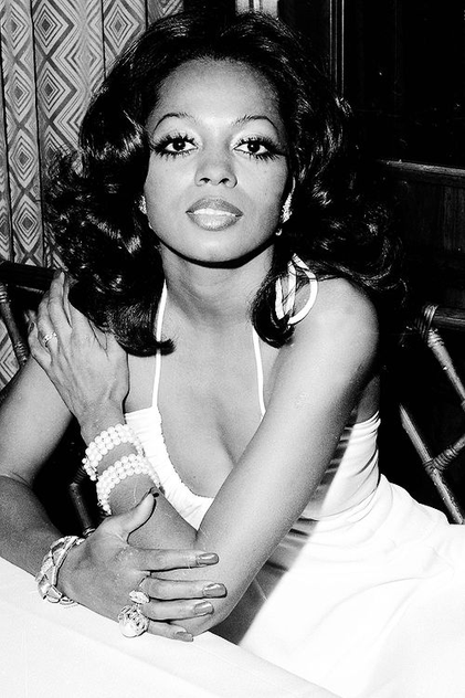Achieve Diana Ross' doe eyes with heavy mascara, eyeliner, and thinned-out arched brows.
