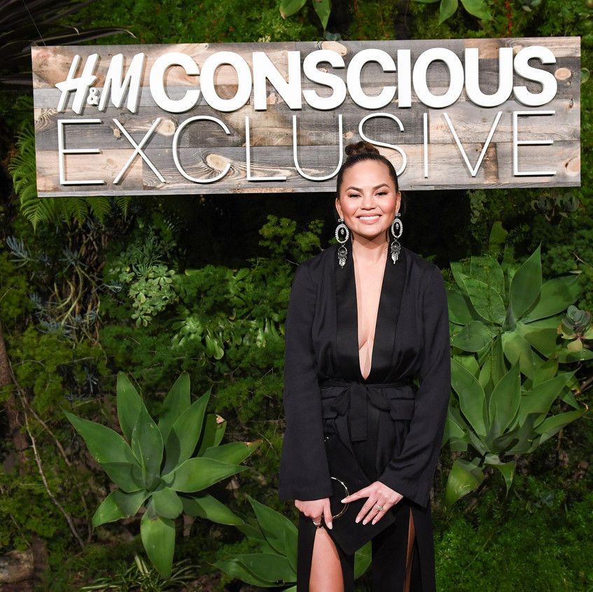 Chrissy Teigen at H&M Conscious Exclusive collection 2017 Dinner in Los Angeles