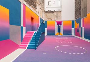 Conheça a quadra mais colorida de Paris!