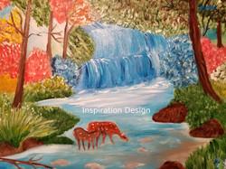 Deer on a brook