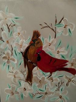 Love red bird