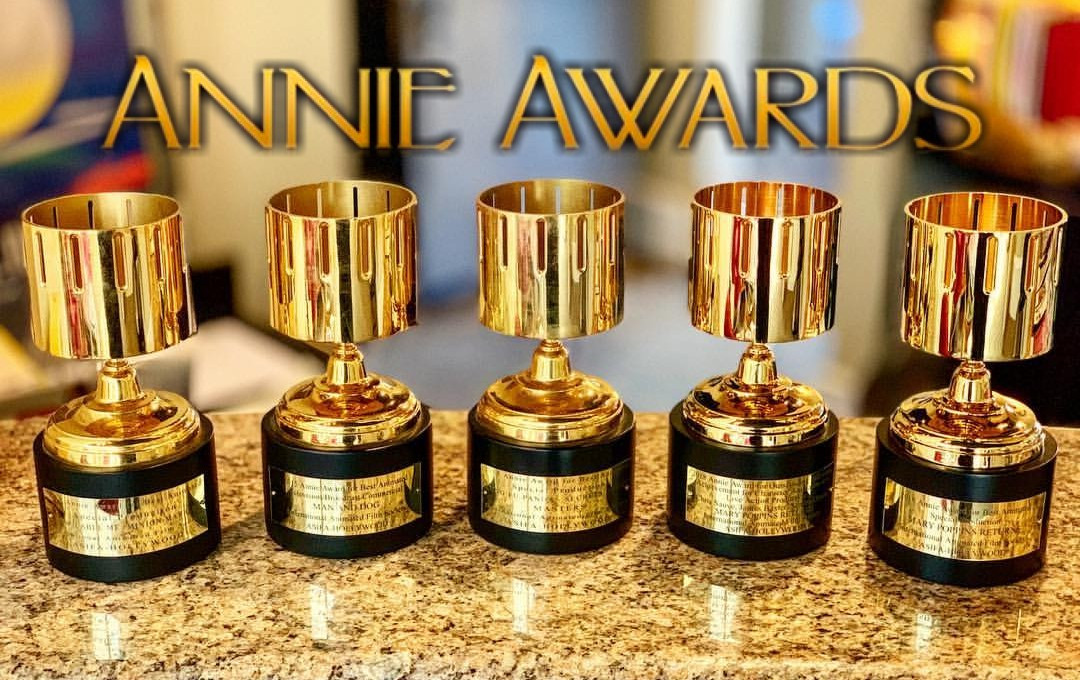 The Annie Awards are accolades which the Los Angeles branch of the International Animated Film Association, ASIFA-Hollywood, has presented each year since 1972[1] to recognize excellence in animation shown in cinema and television. Originally designed to celebrate lifetime or career contributions to animation, the award has been given to individual works since 1992.  Membership in ASIFA-Hollywood is divided into three main categories: General Member (for professionals), Patron (for enthusiasts of animation), and Student Member. Members in each category pay a fee to belong to the branch. Selected professional members of the branch are permitted to vote to decide the awards.