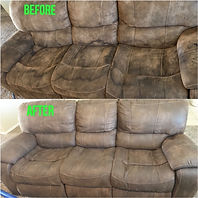 Sofa Before and after cleaning