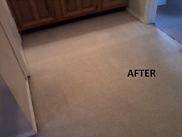 After stain removal All Pro Carpet Care
