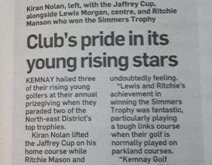 Kemnay Young Rising Stars!