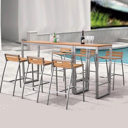 Outdoor Wood & Steel - Bar Set - SweetGum