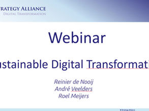 Webinar Duurzaamheid Digitale Transformatie van 25 februari 2021