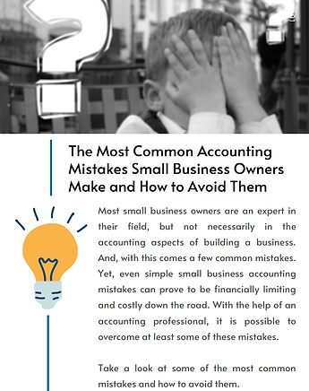 The Most Common Accounting Mistakes Smal