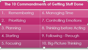 The 10 Commandments of Getting Stuff Done!