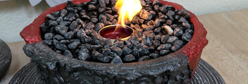 Vulkanschale Mandala BIG rot/anthrazit