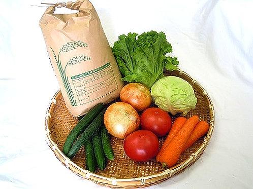 米5kgと季節の野菜のセット