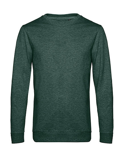 "Sweatshirt French Terry ""heather dark green"" pièce unique"