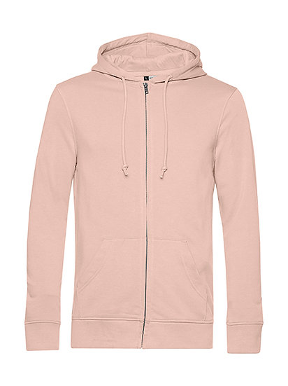 "Sweatshirt French Terry Zipped éthique rose ""soft"" 10 pièces"