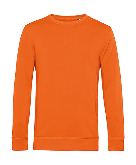 "Sweatshirt éthique French Terry ""pure orange"" pièce unique"