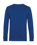 """Sweatshirt éthique French Terry bleu """"royal"""" pièce unique"""