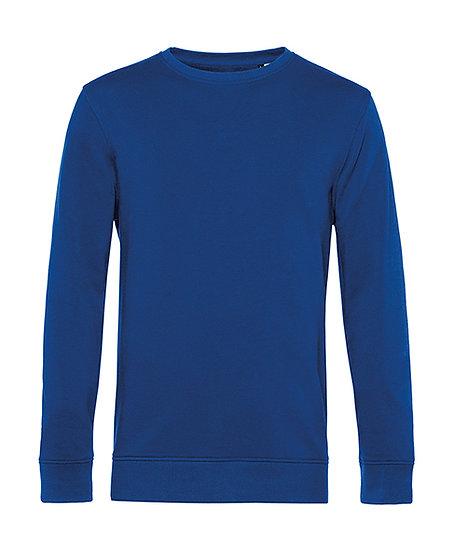 """Sweatshirt éthique French Terry bleu """"royal"""" 10 pièces"""