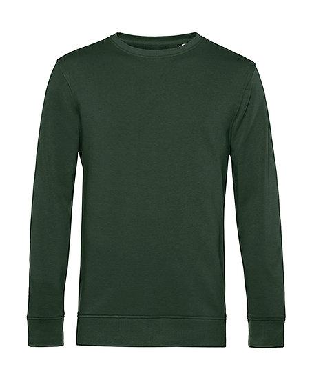"""Sweatshirt éthique French Terry vert """"forest"""" pièce unique"""