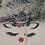Thumbnail: Serviette brodée renne noël personnalisée prête à offrir