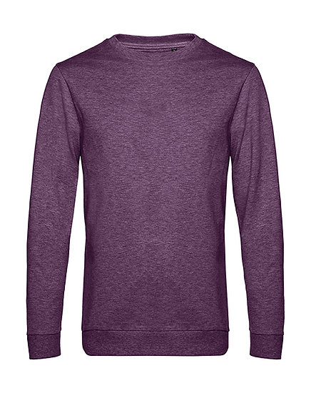 "Sweatshirt French Terry ""heather purple"" pièce unique"