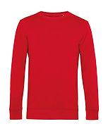 Sweatshirt éthique French Terry rouge pièce unique