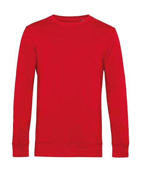 Sweatshirt éthique French Terry rouge 100 pièces