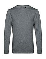 "Sweatshirt French Terry ""heather mid grey"" pièce unique"