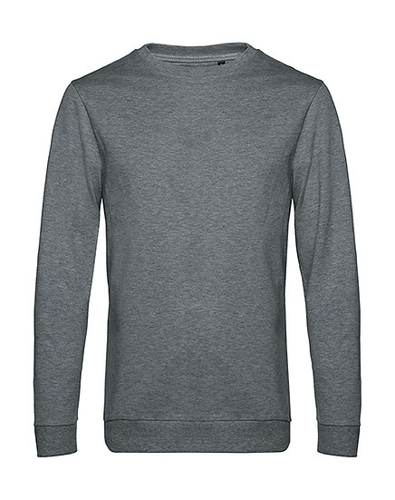 "Sweatshirt French Terry ""heather mid grey"" pièce unique"