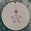 Thumbnail: Petit cadre en bois brodé étoile de Noël