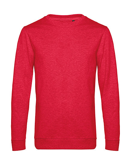 "Sweatshirt French Terry ""heather red"" pièce unique"